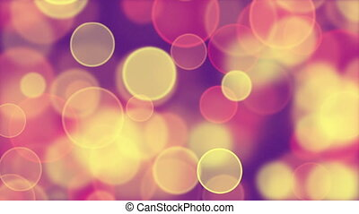 pink yellow circle bokeh loop - delicate pink yellow circle...
