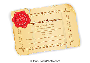 Vintage Certificate - illustration of vintage certificate...