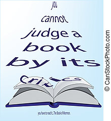 Judge A Book - A large Book of Mormon with open pages, an...