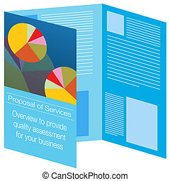 Brochure Icon - An image of a brochure icon