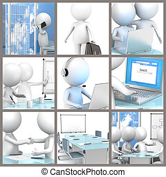 Business Collage. - Collage of business people at the...