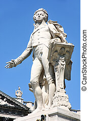 Statue of Wolfgang Amadeus Mozart in Vienna - Statue of...