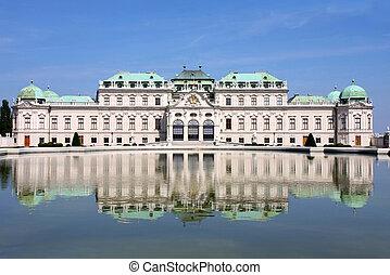 Baroque castle Belvedere, Vienna, Austria - Baroque castle...
