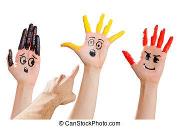 Hands Workmates - Hands that express emotions. A finger...
