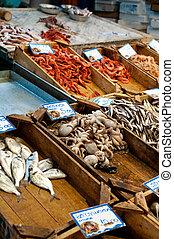 Kalamata, griego, alimento, Mercado