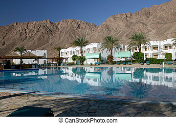 Egypt Dahab - Resort just outside of Dahab on the Red Sea in...