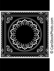 Decorative pattern frame for napkin
