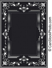 Decorative frame for silver decor