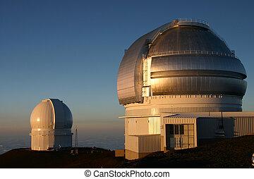 Hawaii Observatory - A beautiful sunset on top of Mauna Kea...