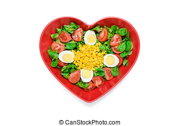 Hearth shape salad - Simple and healthy salad made ?with...