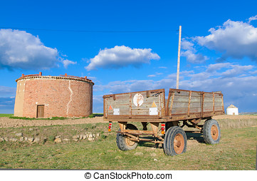 Old agriculture trailer