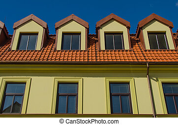 House top windows and roof