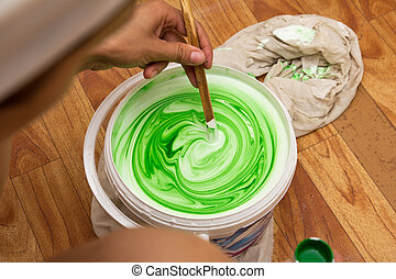 white and green emulsion