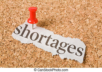 Headline shortages, concept of shortages