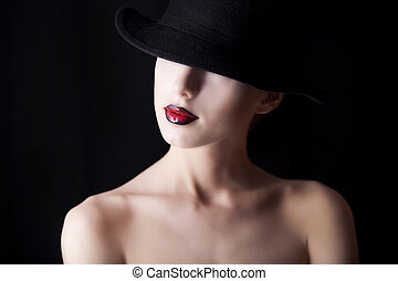 Fashion women in hat