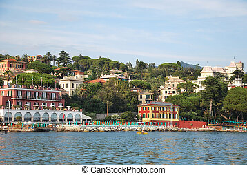 Santa Margherita Ligure, tourist center in the Gulf of...