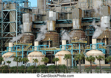 Power Plant Steam - Steamsmoke spewing from power plant...