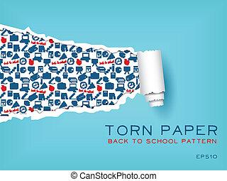torn paper
