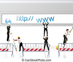 Website under construction - Concept of website under...