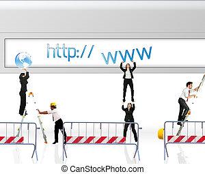 sitio web, debajo, construcción