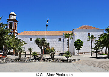 a view of Church of Our Lady of Antigua in Fuerteventura, Canary Islands, Spain