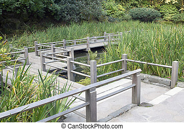 Japanese Garden Foot Bridge - Japanese Garden Wooden Foot...