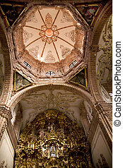 Church dome altar mexico