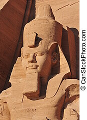 Pharoah Monument from Abu Simbel. The Abu Simbel temples are...