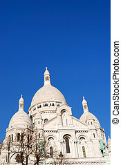 Sacre coeur church - view of the famous Sacre coeur church...
