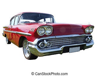 1958 Chevrolet Belair isolated with clipping path