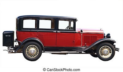 1930 Chrysler 66 isolated with clipping path