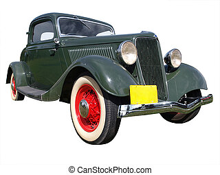 1934 Ford 40 Isolated with clipping path