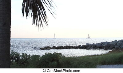 Sailing Tropical Paradise Shot in Key West Florida
