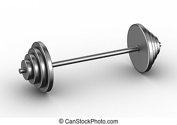 barbell on white background. Isolated 3D image