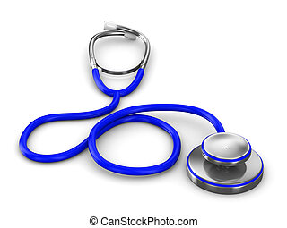 Stethoscope on a white background Isolated 3D image