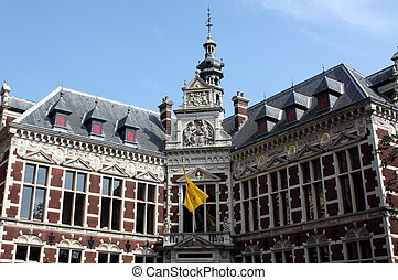 University building in the city Utrecht Netherlands