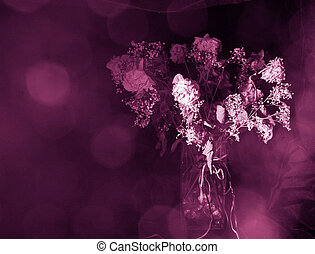 Death of Romance - Dried bouquet of faded flowers under...