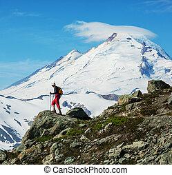 Hike in mt.Baker area - hiking in Mt.Baker area, Washington