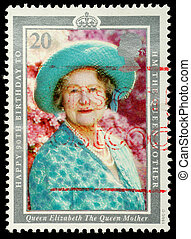Postage Stamp 90th Birthday of Queen Mother - UNITED KINGDOM...