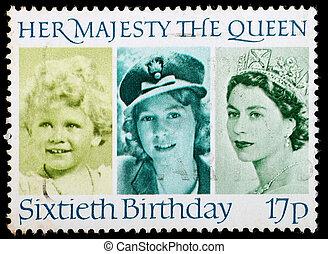 Postage Stamp 60th Birthday Queen Elizabeth 2nd - UNITED...