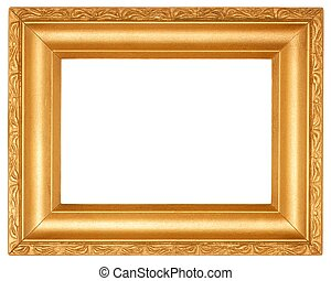 Frame - Golden frame with empty space for your picture