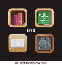 wood icon app for web