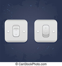 Light switch, vector - vector web illustratoin Light On Off...