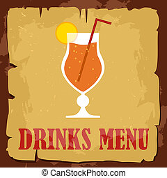 vintage drink menu cocktail