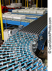 Conveyor rollers line - Conveyor rollers at box packing line...