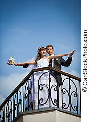 wedding - Happy young couple just married - wedding day