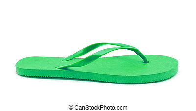 flip flop - green flip flop on white