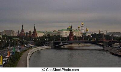 Kremlin embankment, timelapse