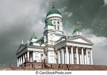 St Nicholas Cathedral in Helsinki, Finland - A photo of St...