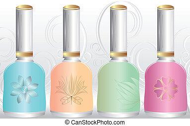 Vector colorful nail polish